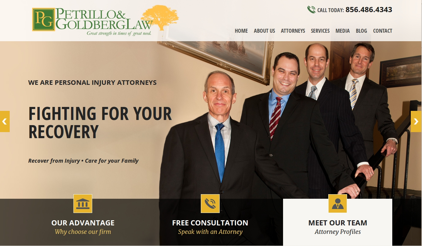 Petrillo & Goldberg Law launched a newly designed website.
